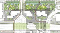 Landscape-Architecture - Section through car park. Credit: Copyright Karres en Brands