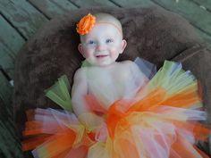 Halloween Tutu Candy corn tutu Infant tutu by TutuChicHBBoutique