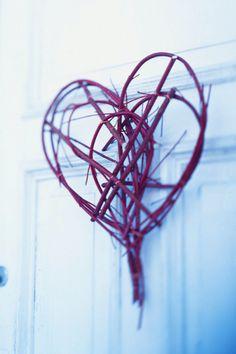 Twig heart for my door.  The tutorial is here:  http://sweetpaul.typepad.com/my_weblog/2010/02/cr.html