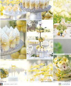 Yellow Garden Party | I should throw a party like this for Mom someday...