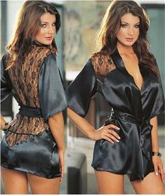 Available Now on our store:  Sexy  Satin Lace ... Check it out here ! http://mamirsexpress.com/products/sexy-satin-lace-black-kimono-intimate-sleepwear-robe?utm_campaign=social_autopilot&utm_source=pin&utm_medium=pin