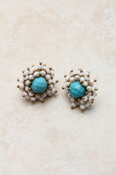 Thanx Cristina ! Another beautiful pair of lobe trinkets. Turquoise Demi Earrings