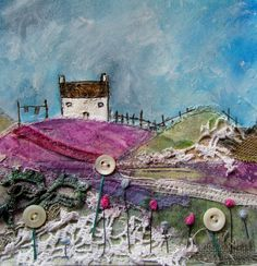 'A blustery day on the farm' by Louise O'Hara of DrawntoStitch https://www.facebook.com/DrawntoStitch