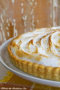 Pineapple, coconut and meringue tart - a much needed ray of Caribbean sunshine in the middle of the dreary autumn...!