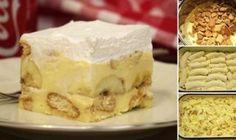 Druh receptu: Sladkosti - Page 32 of 331 - Mňamky-Recepty. Bulgarian Recipes, Croatian Recipes, Sweet Recipes, Cake Recipes, Dessert Recipes, Croatian Cuisine, Kolaci I Torte, How To Make Cake, Chocolate Chip Cookies