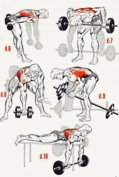 use dumbbells at first? I don't have a back board, but I'll put it under abs. The Fitness era: HARDCORE back workout Fitness Workouts, Gym Workout Tips, At Home Workouts, Chest Workouts, Back Exercises, Weight Exercises, Shoulder Workout, Bodybuilding Workouts, Bodybuilding Training