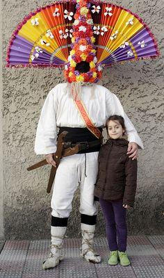 Lucía con Guirrio del carnaval de Llamas de la Ribera (León), photo by Carlos González Ximénez