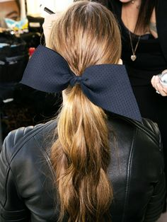 10 Must-Have Hairstyles for the First Day of School - - Not sure how to dress for back to school? Well, at least you'll know how to do your hair. Sleek Hairstyles, Ponytail Hairstyles, Diy Hairstyles, Gorgeous Hairstyles, Hair Ponytail, Braided Ponytail, Updo Hairstyle, Wedding Hairstyles, School Hair Bows