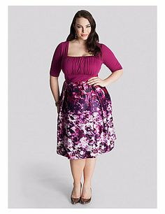 The plus size ladylike A-line dress is having a big moment in fashion right nowand so are Jazz-Age-inspired silhouettes. The Mariella Dress fuses the best of both worlds with its square-neck draped bodice and A-line lightweight charmeuse skirt. Pair with pearls, a small top-handle flap bag and peep toe pumps. sonsi.com