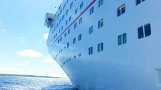 Love the curves of a cruise ship!   #cruisingdave #cruise #cruising #carnivalcruise #cruiseship #bahamas #caribbean #travel #vacation #ship #cruiseships #ocean #sea #clouds #beach #tropical #island #summer #cruisegram #carnivalecstasy #charleston #freeport #carnivalcruiseship #carnivalcruiseships #cruiselife #princesscays #travelgram