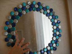 Diy Bottle Cap Crafts 696298792357528624 - miroir Source by lenneemilie Plastic Bottle Caps, Bottle Cap Art, Bottle Top, Water Bottle, Diy Bottle Cap Crafts, Bottle Cap Projects, Garrafa Diy, Beer Caps, Crafty Craft