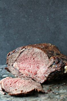 Rib Roast with Red Wine Au Jus Recipe - from RecipeGirl.com