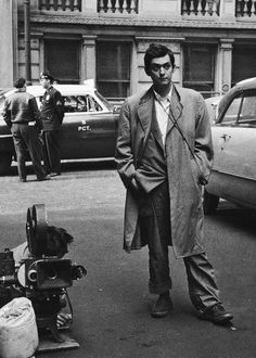 Stanley Kubrick during the filming of Killer's Kiss in 1955.