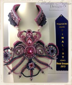 The Jewelled Net of Indra. Finalist in the 2013 Bead Dreams, Bead Artistry Contest. USA. by Melissa Ingram  www.aussiebeader.com
