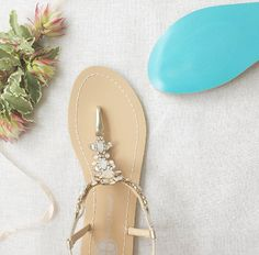 Something Blue Sole Wedding Shoes Sandals with by BellaBelleShoe