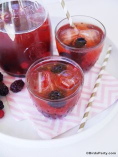 Red Berries Healthy & Skinny Iced Tea Recipe