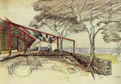 Desenho de Osvaldo Bratke