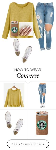 """"""""""" by hdflynn on Polyvore featuring Converse"""