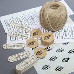 Tags and labels for beeswax candles