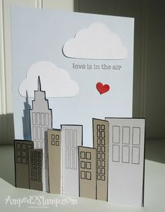 Love is in the Air Valentine card created by Debbie Davis @ Amped2Stamp.com Amuse Studio