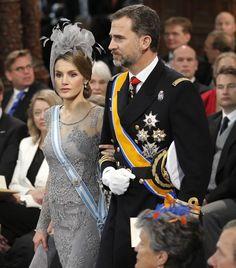 Felipe y Letizia Príncipes de Asturias en la coronación de Guillermo y Máxima de Holanda