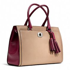 Coach :: LEGACY LARGE CHELSEA CARRYALL IN TWO TONE LEATHER