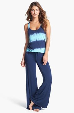 PJ Salvage 'Blue Lagoon' Tank & Pants available at Pajama Day, Pajamas All Day, Cute Pjs, Cute Pajamas, Sleepwear & Loungewear, Lingerie Sleepwear, Cool Outfits, Casual Outfits, Night Gown
