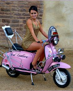 All things Lambretta & Vespa Motorbike girl's don't come close Retro Scooter, Scooter Bike, Lambretta Scooter, Vespa Scooters, Bicycle, Vespa Vintage, Vintage Bikes, Lml Star, Italian Scooter