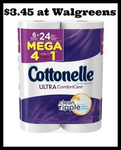 Walgreens - Cottonelle Mega Rolls Tissue 6ct only $3.45! - http://dealmama.com/2017/06/walgreens-cottonelle-mega-rolls-tissue-6ct-3-45/
