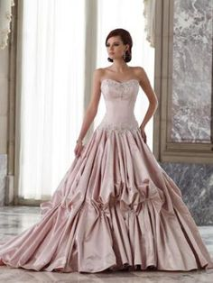 Ivory Pearl Rose Couture Cinderella Wedding Dress by Sophia Tolli Bridal