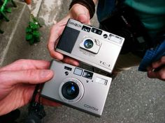 Shinjuku Minolta TC-1 and Contax T3 They're about the same size. And since this is the internet someone has already posted a well illustrated review of not only these two cameras but some of their other contemporaries as well. The T3 is always with...