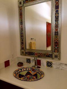 Best photos, images, and pictures gallery about hacienda style bathroom ideas - hacienda style homes Spanish Bathroom, Spanish Style Bathrooms, Bathroom Red, Spanish Style Homes, Bathroom Ideas, Bathroom Shop, Bathroom Marble, Vanity Bathroom, Dream Bathrooms