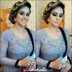 Makeup by sadaf wassan Dulhan Dress, Party Makeup, Party Wear, Henna, Most Beautiful, Make Up, Suit, Bridal, Hair Styles