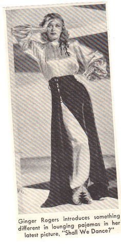 Ginger Rogers and very stylish lounging pajamas e75a4c33d