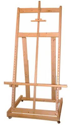 Complete novice woodworking plans for building a fully-functional studio easel for less than $100 in materials using tools you'll find in your basement or your friend's garage. This easel is suitable for securing huge canvases and extendible to any size.