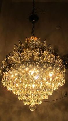 Vintage French Chandelier 1940s