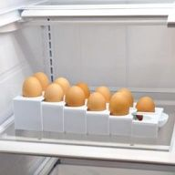 You wont waste fridge space with a half-empty carton. Eggstra Space tray adjusts.