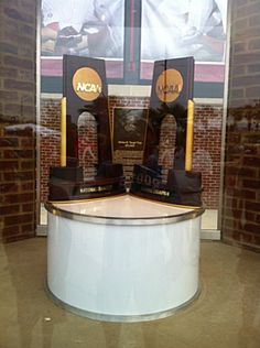University of South Carolina National Championship trophies.
