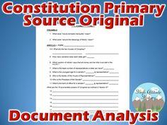 Constitution Primary Source Original Document Study Analysis