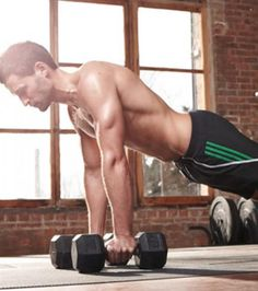 The 15-Minute Full-Body Dumbbell Workout | Men's Fitness. Straightforward, simple routine to add to short cardio interval days. men's fitness, fitness inspiration