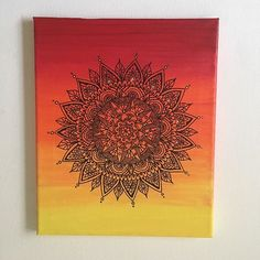 Mandala on a canvas... #mandala #canvasmandala #ombre #zentanglemandalalove…