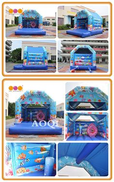Our ocean inflatable bouncer is popular to children by its vivid design,safe structure and beautiful painting.The inflatable adapted to a variety of ourdoor venues. Inflatable Bouncers, Special Events, Children, Kids, Messenger Bag, Ocean, Popular, Fun, Painting