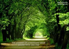 """The journey of a thousand miles begins with one step. """" - https://www.facebook.com/learnmoreaboutu"""