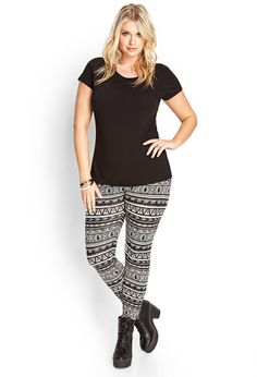 Tribal-Inspired Leggings | FOREVER21 #F21Plus #OOTD