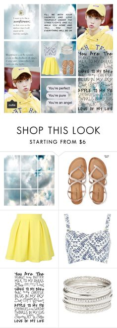 """"""":: Yellow ~ Sanha ::"""" by kat-oh-sparrow ❤ liked on Polyvore featuring Barclay Butera, Aéropostale, WithChic, River Island and Charlotte Russe"""