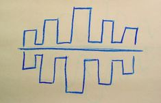 Waldorf ~ 2nd grade ~ Form Drawing ~ Horizontal Symmetry ~ main lesson book