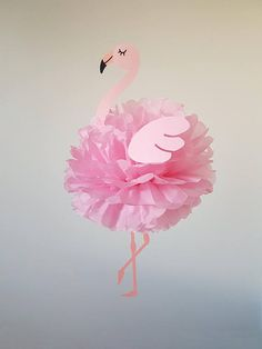 Flamingo party decorations for children's birthday party