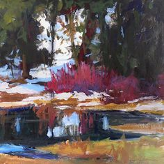 Tracy Haines - Quiet Pond- Acrylic - Painting entry - May 2016 | BoldBrush Painting Competition