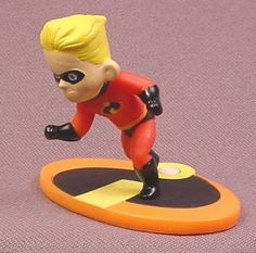 "Disney The Incredibles Dash PVC Figure on Base, 2"" tall"