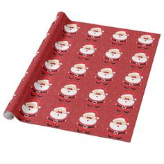 Cute Santa Claus Christmas custom holiday gift Wrapping Paper by zazzleproducts1